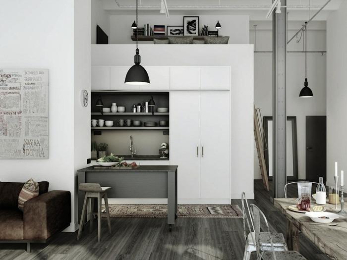 atractivo fresco interiores industrial grises