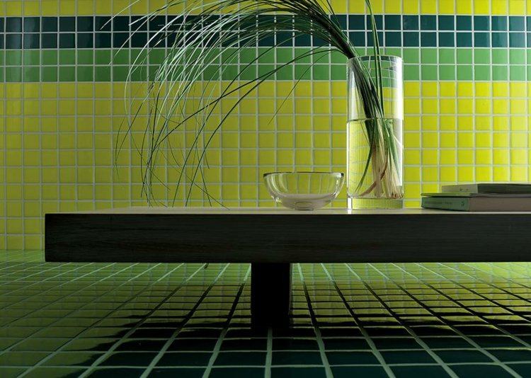 azulejos mosaico tonos verdes