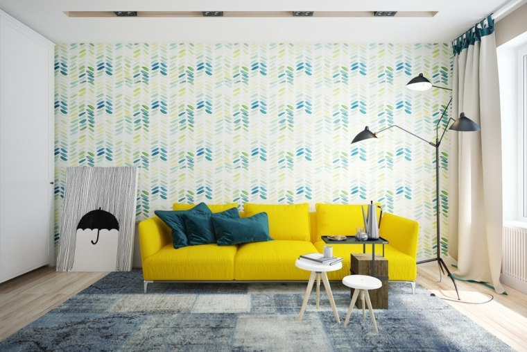 Color amarillo 27 ideas de accentos para salones modernos - Decoracion salon amarillo ...