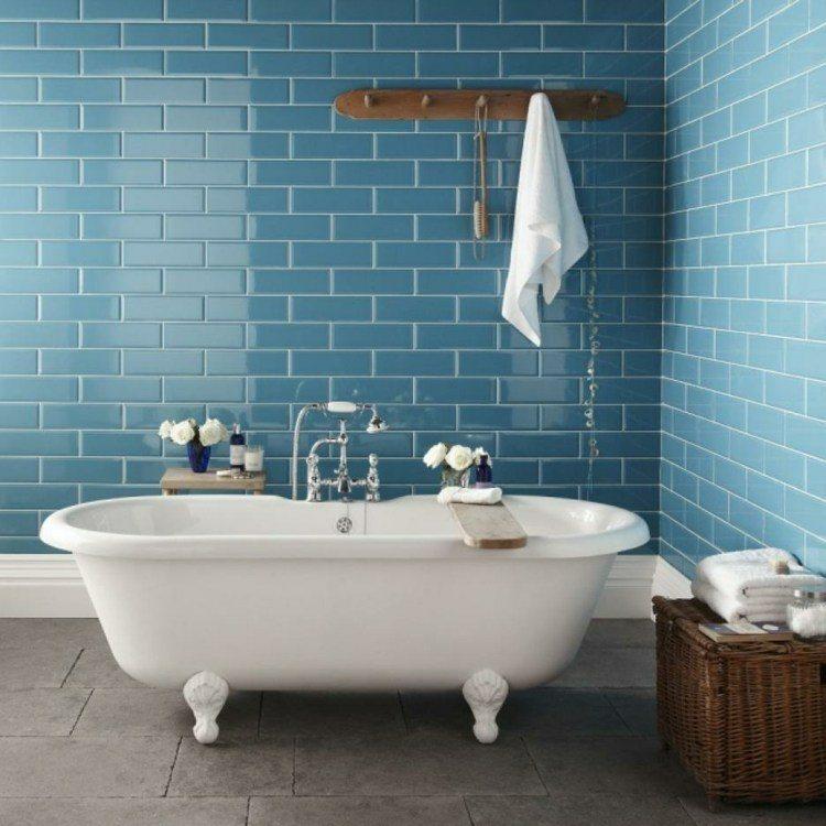 azulejos baño vintage ázules