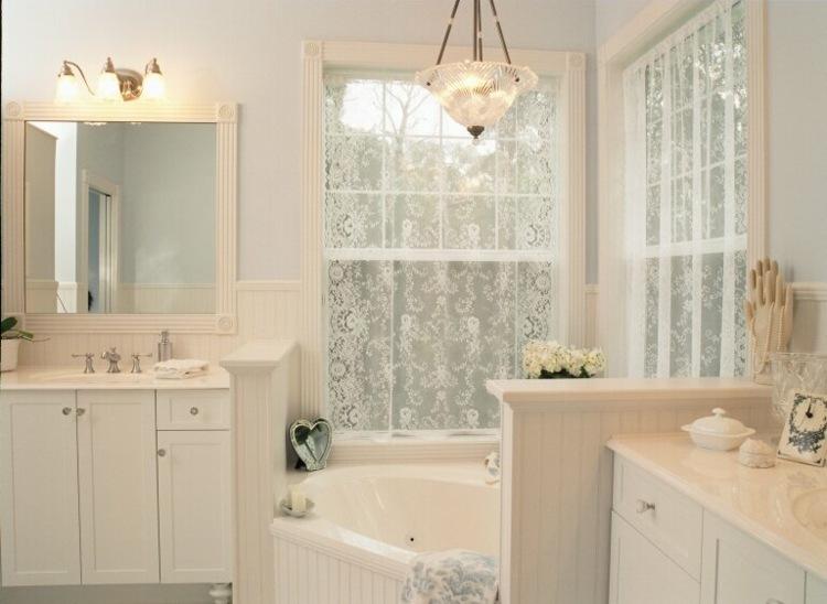 baño lujoso blanco shabby chic