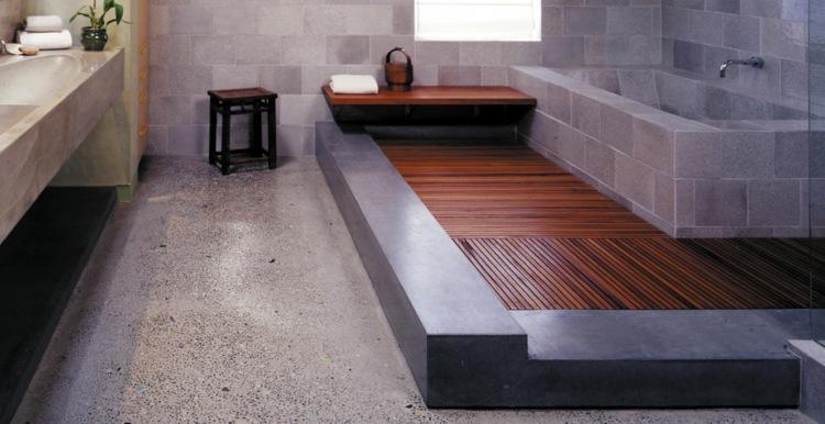 baño lujoso suelo cemento