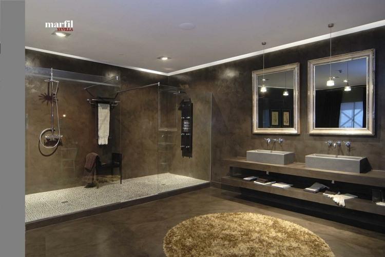 baño estilo lujoso moderno cemento