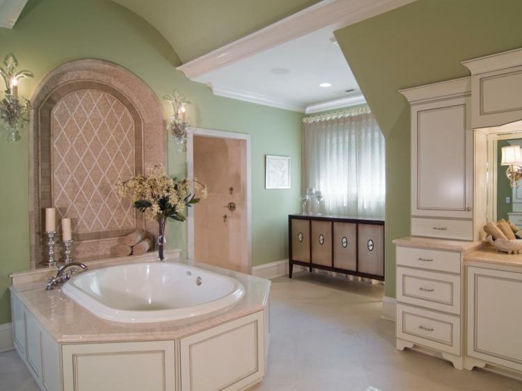 baño diseño lujoso rosa verde
