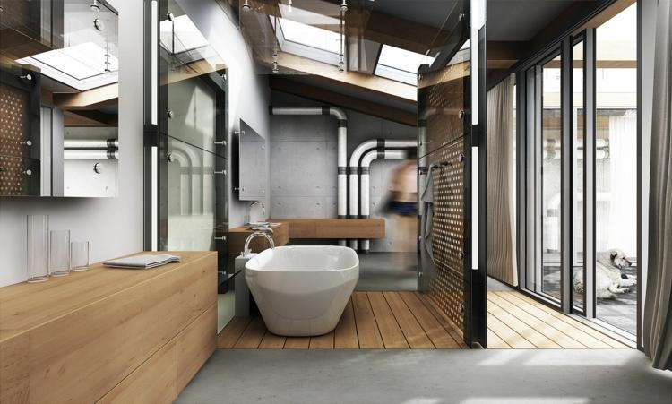 baños microcemento moderno estilo industrial