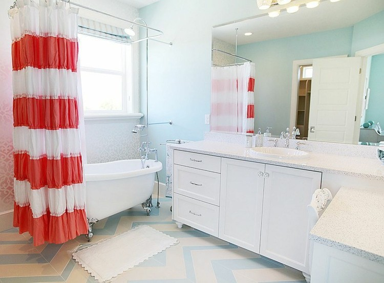 Romanticismo y dulzura en el baño - 50 diseños Shabby Chic -