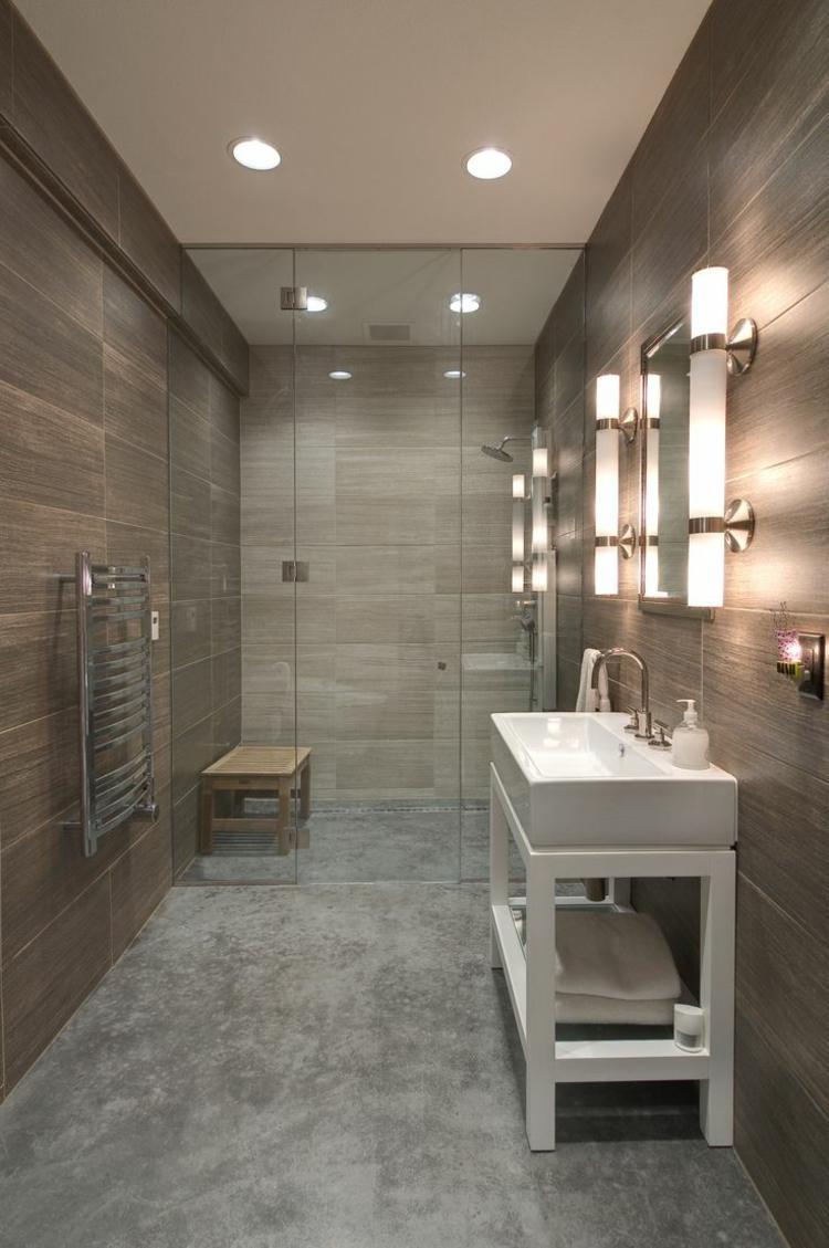 baño pequeño suelo microcemento