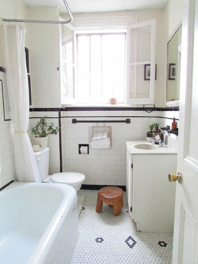 baño estilo retro color blanco