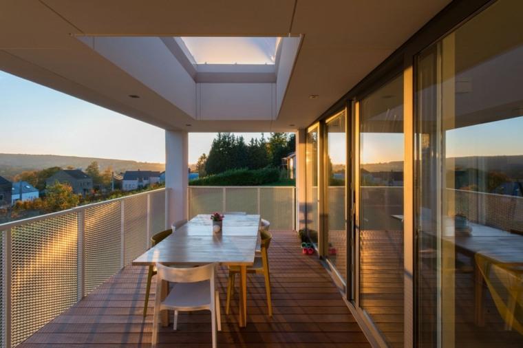 balcon amplio comidas aire libre casa diseno ideas