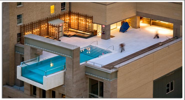 balcon azotea piscina infinita