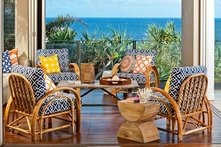 balcones decoracion sillones bambu aire libre ideas