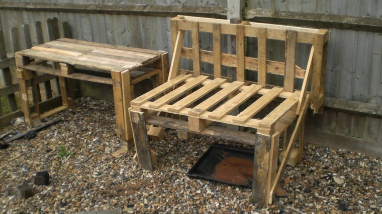 banco mesa diseño simple