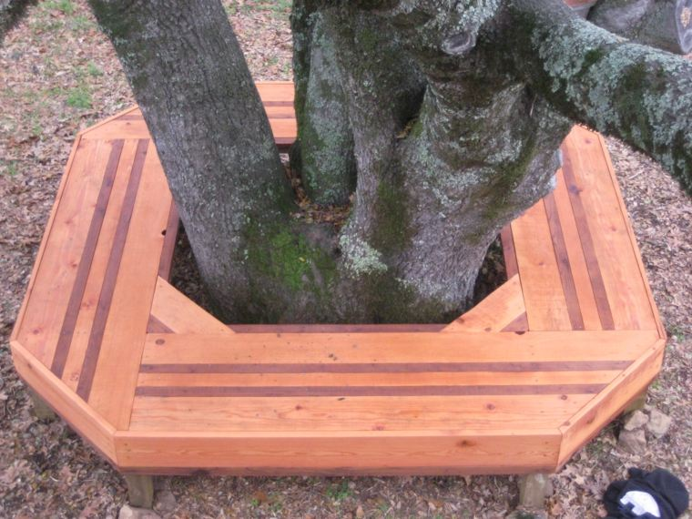bancos diseño madera moderno jardin