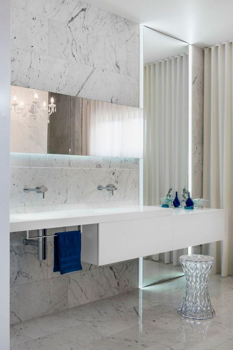 bano glamuroso iluminacion led opciones interiores ideas