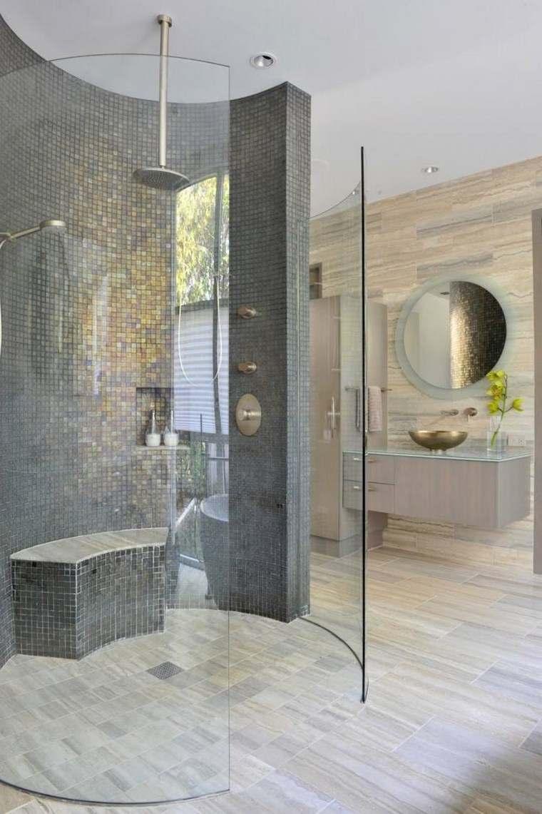 bano moderno opciones decoracion banco ducha ideas