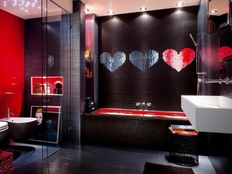 bano moderno opciones decoracion corazones ideas