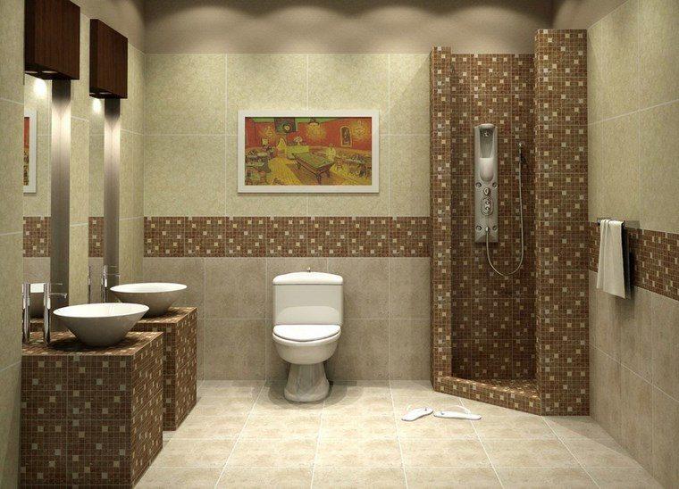 bano moderno opciones decoracion dos lavabos ideas