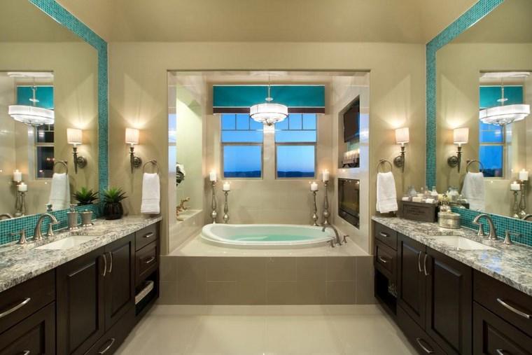 bano moderno opciones decoracion espejos mosaico ideas