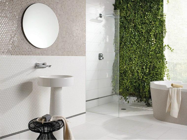 bano moderno opciones decoracion jardin vertical ideas