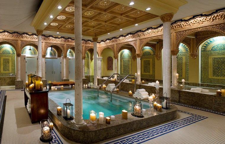 bano spa amplio precioso mosaico ideas