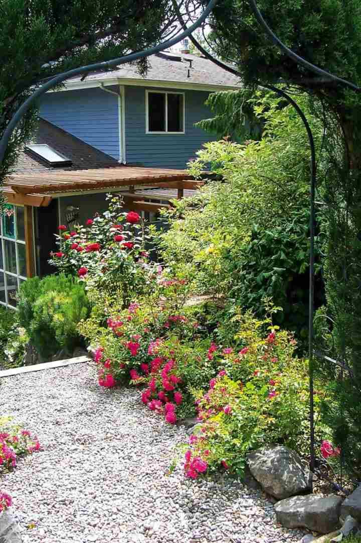 barreras jardines estilos colores azules