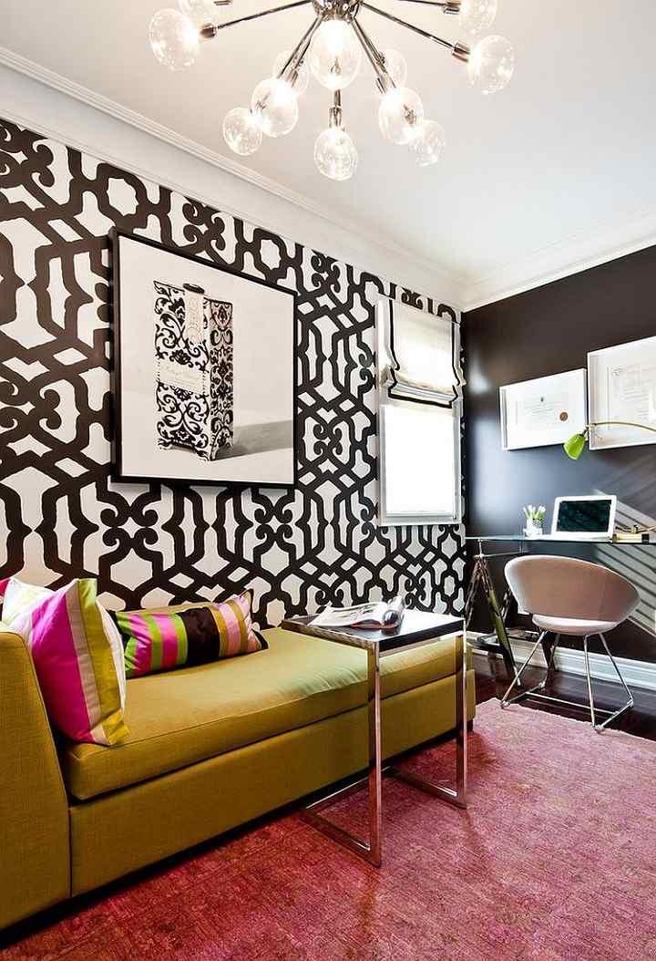 blanco y negro conceptos metales coloridas paredes