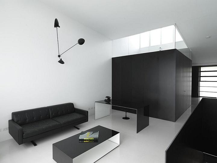 blanco y negro libros centro mesas minimalistas
