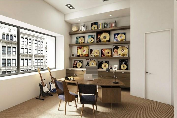 blancos salas espacios salones muebles discos