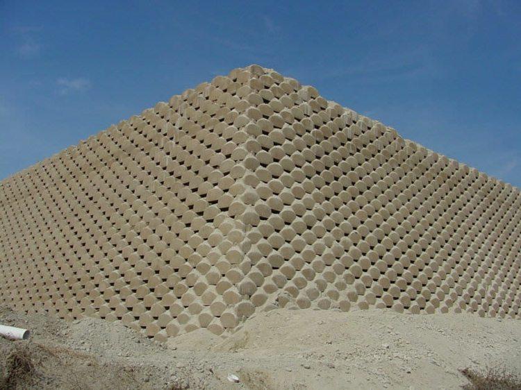 bloques verdura cemento fachada
