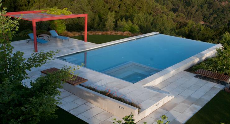 original terraza piscina infinita
