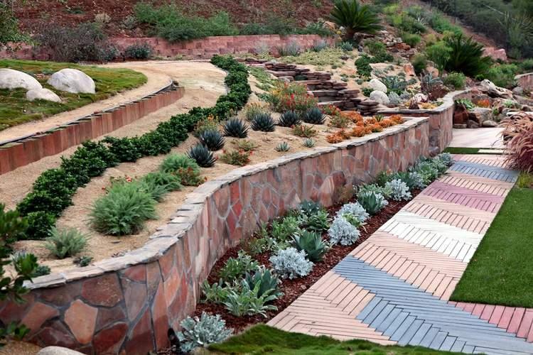 Jardines modernos con terrazas y gradas 50 dise os - Diseno de jardines modernos ...