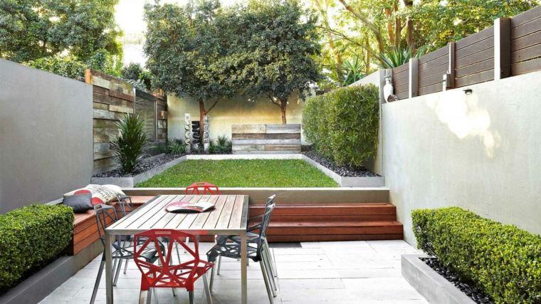 Dise o de patios y jardines peque os 75 ideas interesantes for Comedor terraza easy