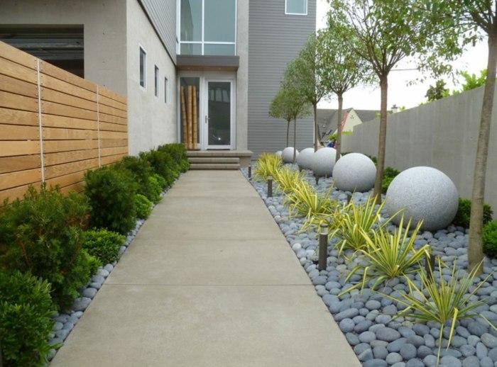 bolas casas estilos concretos muros