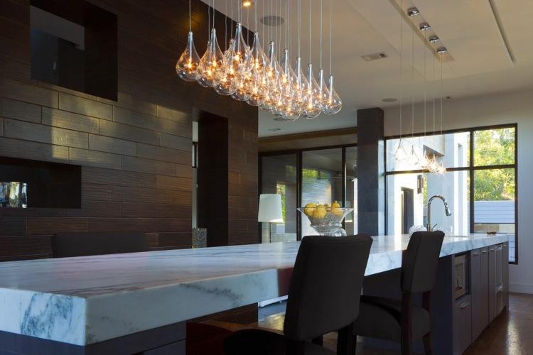 Lamparas de cocina modernas para una iluminaci n pr ctica - Iluminacion de pared ...