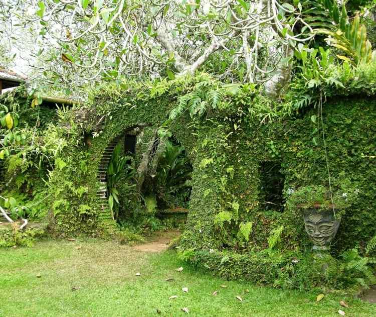 bonirto diseño jardin arco redondo