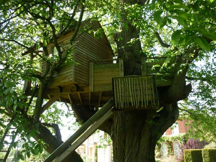 bonita casa arbol deco madera