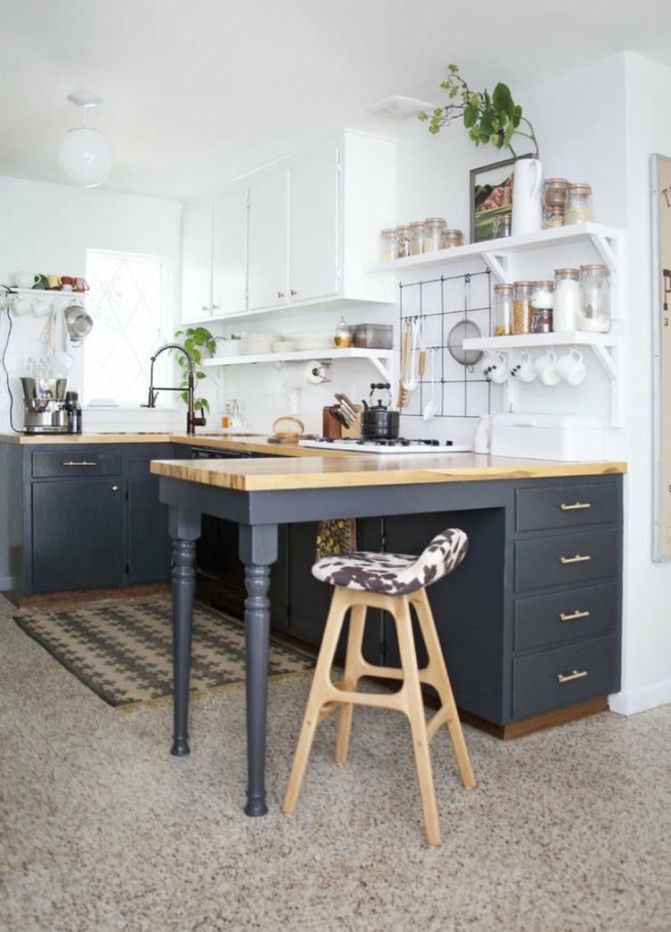 Cocinas peque as modernas los 25 dise os m s funcionales for Cocinas vintage modernas