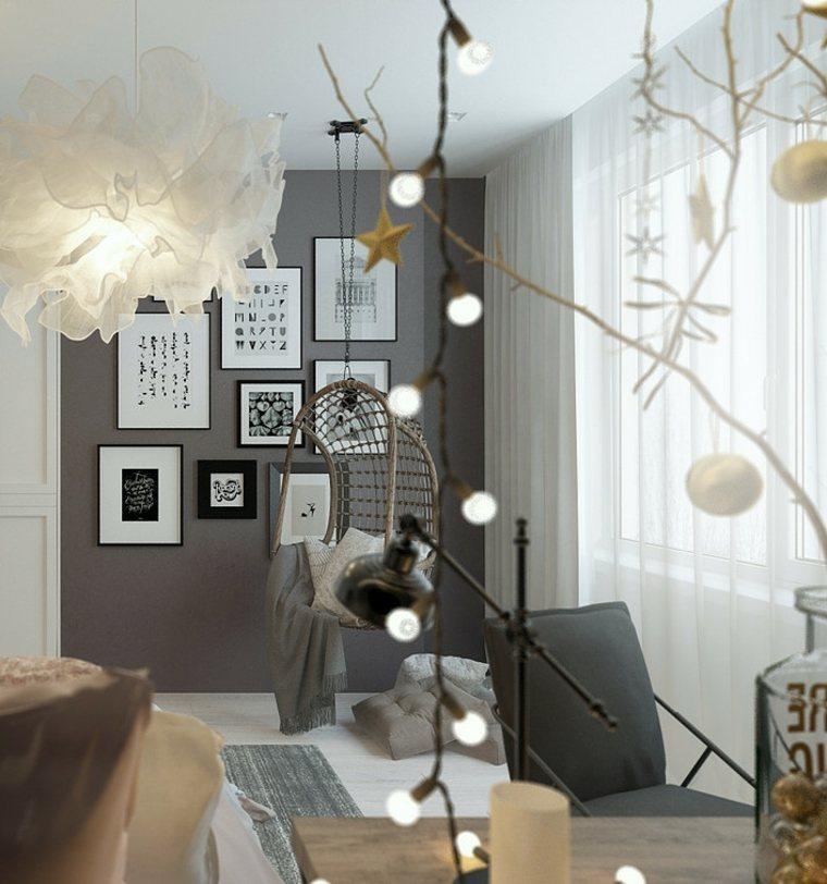 bonita decoración pared gris