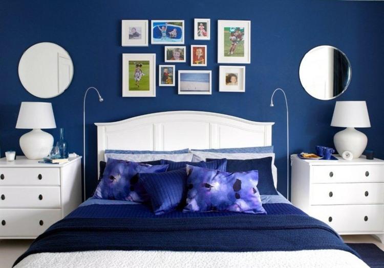 bonita decoración azul dormitorio