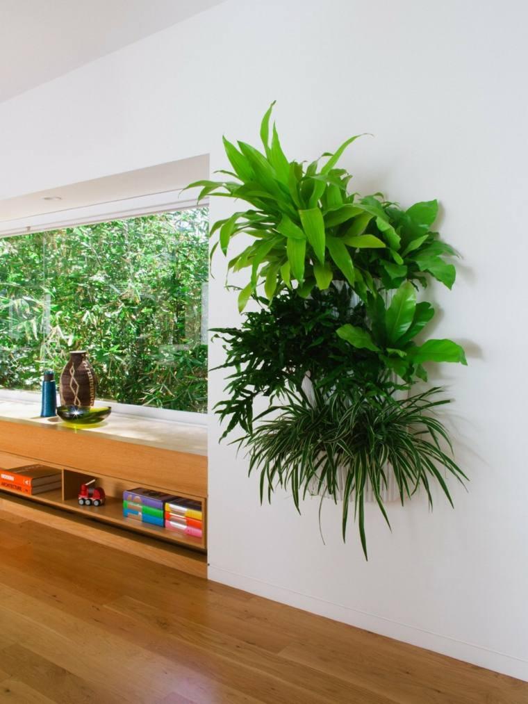 bonita decoración plantas pared