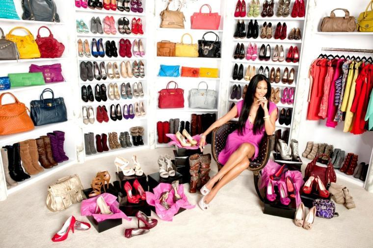 bonita foto armario vestidor organizado