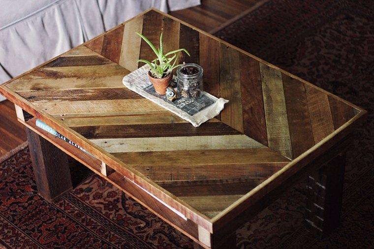 bonita mesa diseño palet deco