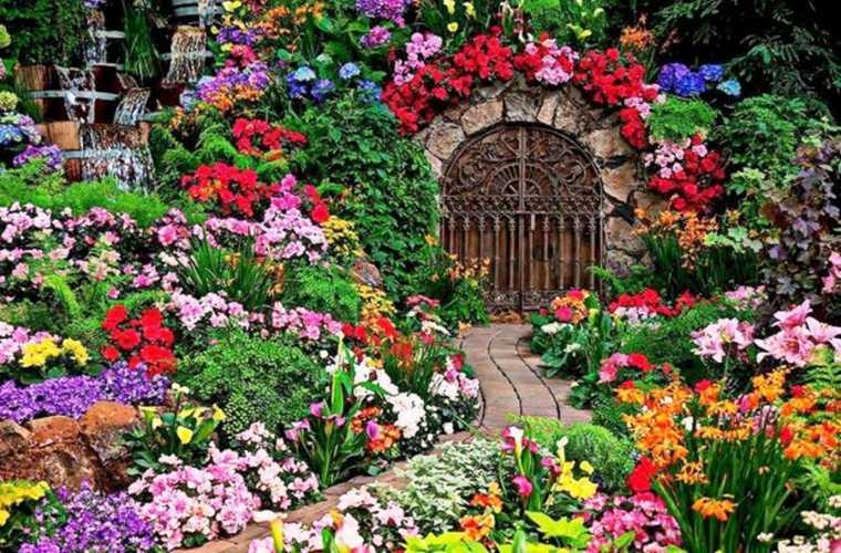 bonita puerta jardín secreto