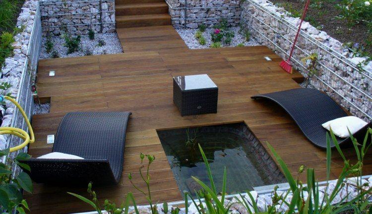 bonita terraza valla piedras