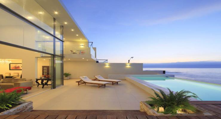 bonita terraza moderna hotel
