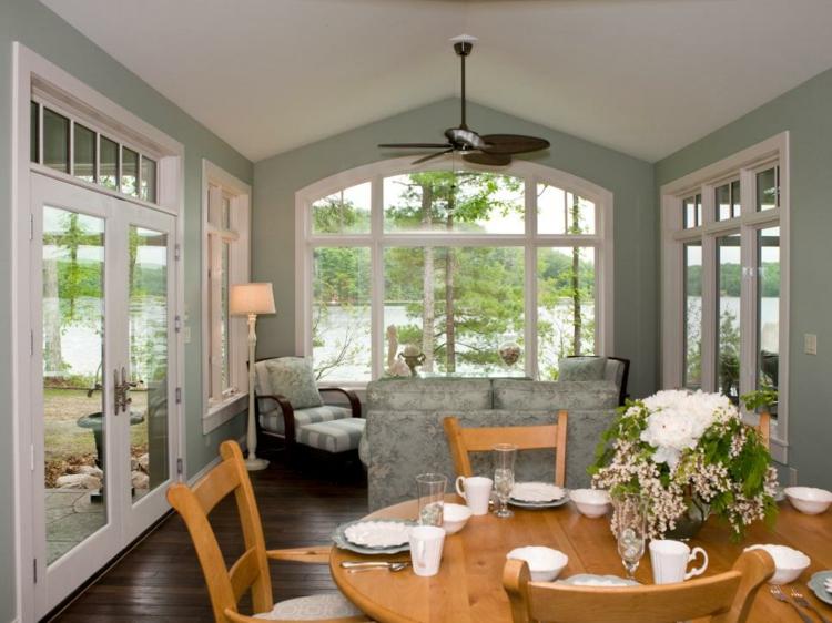 bonita terraza solarium muebles comedor