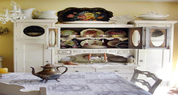 bonita decoración aparador vintage