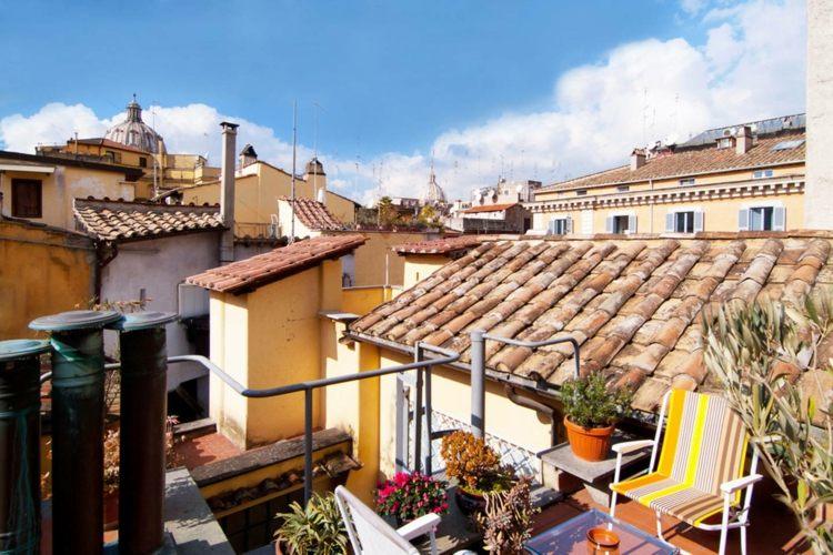 Fotos de casas italianas cl sicas con terraza ideas - Fotos de cerramientos de terrazas ...