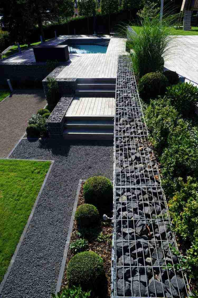Gaviones y muros de alambre y piedras 63 dise os for Vallas de plastico para jardin