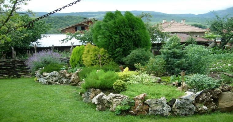 bonito paisaje jardín rocas